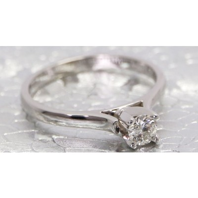 0.25ct Diamond Engagement Ring 14k White Gold