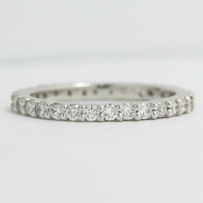 2.0mm Shared Prong Eternity Diamond Band 14k White Gold