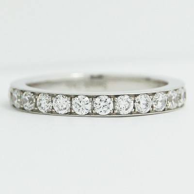 2.6mm Channel Set Eternity Wedding Band 14k White Gold