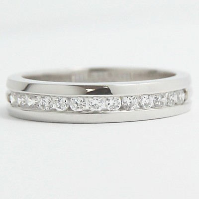3.8-4.1mm Designed Band Wedding Ring 14k White Gold