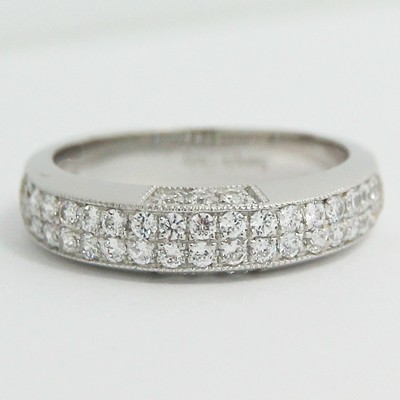 4.5-5.0mm Milgrain Design European Band 14k White Gold