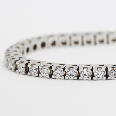 5.00 Carats Claw Set Tennis Bracelet 14K White Gold WTB5