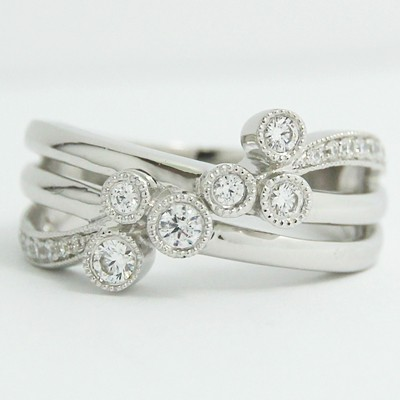 Anniversary Ring 14k White Gold