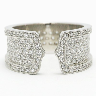 Antique Curved Design Silver Ring