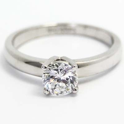 Classic 4 Claw Solitaire Ring 14k White Gold
