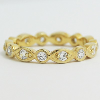 Designed Diamond Eternity Wedding Band 14k Yellow Gold L93812Y-c