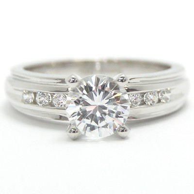 Diamond Accent Engagement Ring14k White Gold