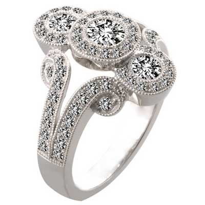 Anniversary Ring 14k White Gold E93742