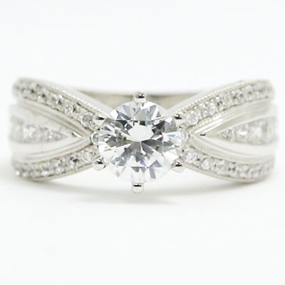 E93658 Butterfly Diamond Milgained Engagement Ring 14k White Gold.jpg