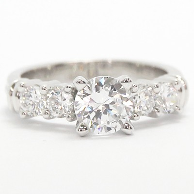 Four Stone Diamond Setting 14k White Gold