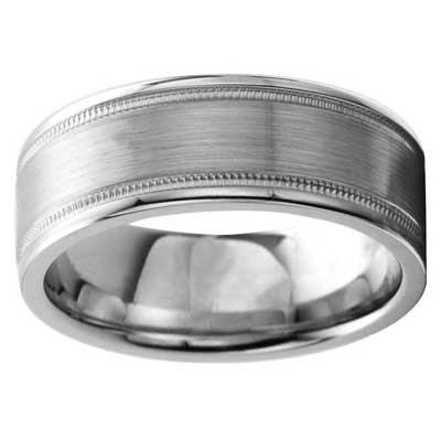 8mm Wedding Band 10k White Gold W93919-8