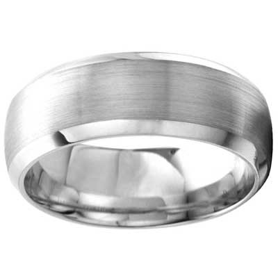 8mm Wedding Band 10k White Gold W93923-8