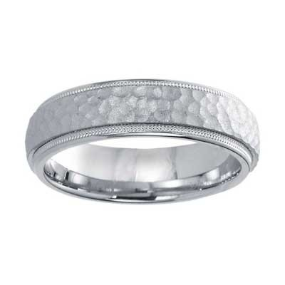6mm Wedding Band 10k White Gold W93926-6