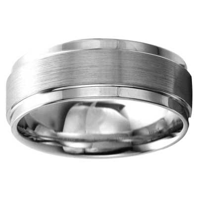8mm Wedding Band 10k White Gold W93965-8