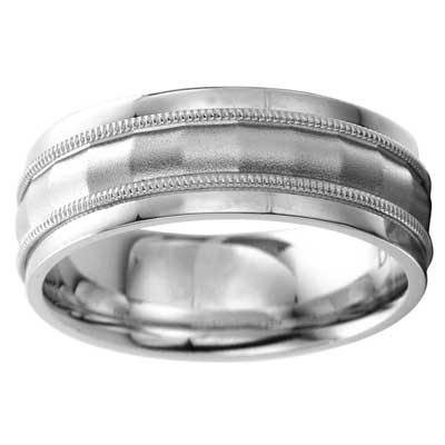 8mm Wedding Band 10k White Gold W93980-8