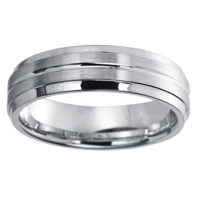6mm Wedding Band 10k White Gold W94918-6