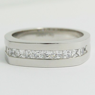 Men's Diamond Ring 14k White Gold G94095