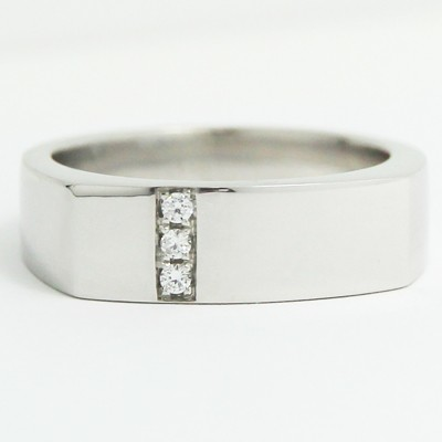 Men's Diamond Ring 14k White Gold G94097
