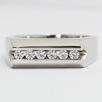 Men's Diamond Ring 14k White Gold G94098