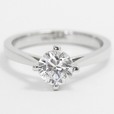 North South East West Solitaire Setting 14k White Gold