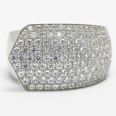 Pave Cocktail Silver Ring