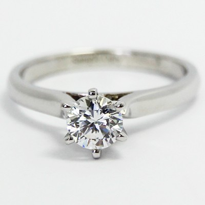 Raised 6 Prong Engagement Setting 14k White Gold