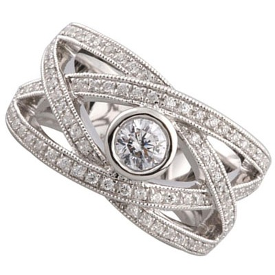 Right Hand Ring White Gold L93631