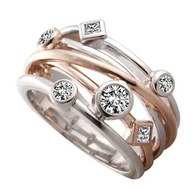 Anniversary Ring 14k White & Rose Gold L93770