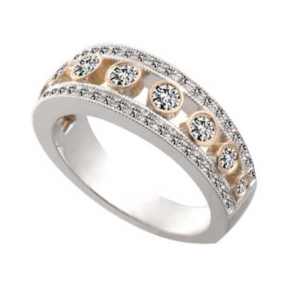 Anniversary Ring 14k White & Rose Gold W93654