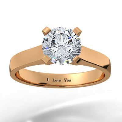 Slim Band Engagement Setting 14k Rose Gold