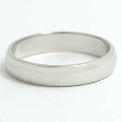 4mm Rounded Wedding Band 10k White Gold