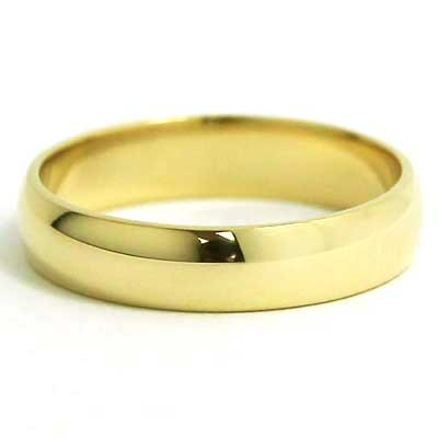 5mm Rounded Wedding Band 10k Yellow Gold