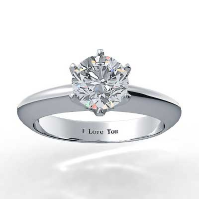 Six Prong Knife Edge Diamond Setting 14k White Gold