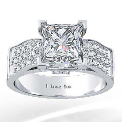 Tulip Style Pave Set Diamond Ring 14k White Gold