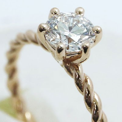 2mm Twist Rope Engagement Ring in 14k Rose Gold MER-07