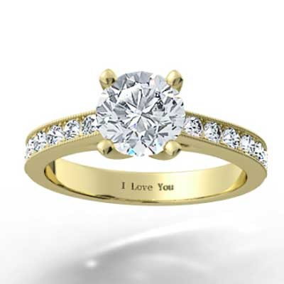 Set Engagement Ring 14k Yellow Gold