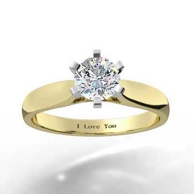 Raised 6 Prong Engagement Setting 14k Yellow Gold
