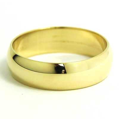 6mm rounded wedding band 10k yellow gold