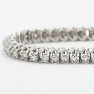 2.50 Carats Designed Claw Set Tennis Bracelet 14k White Gold WTB2.5