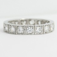 3.5mm Exclusive Design Eternity Wedding Band 14k White Gold  L3780