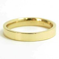 4mm Flat Wedding Band 10k Yellow Gold
