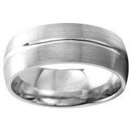 8mm Wedding Band 10k White Gold W93924-8