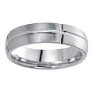 6mm Wedding Band 10k White Gold W93962-6