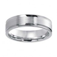 6mm Wedding Band 10k White Gold W93982-6