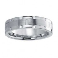 6mm Wedding Band 10k White Gold W94914-6