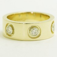 DER-D02 Mens Diamond Ring 10k Yellow Gold