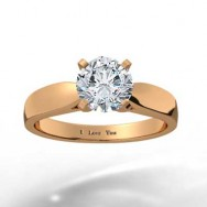 Classic Tapered Diamond Ring 14k Rose Gold