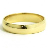 4mm Rounded Wedding Band 10k Yellow Gold
