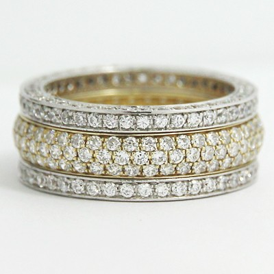 Anniversary Ring 14k White and Yellow Gold L93734