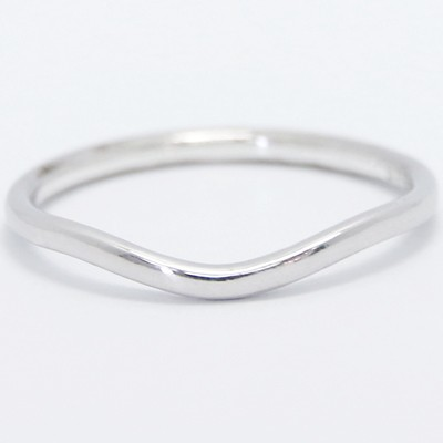 1.5mm Curved Plain Wedding Band 14k White Gold